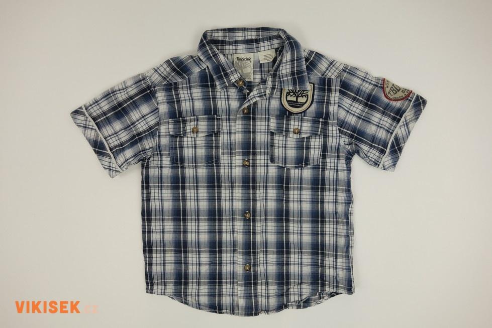 Modrobílá károvaná košile Timberland  b8245699b2