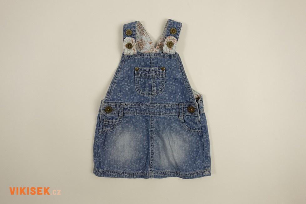 00214321b598 Laclové riflové šaty s kapsičkou